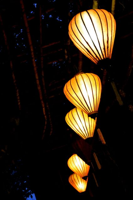 Vietnamese lanterns in Hoi An at night