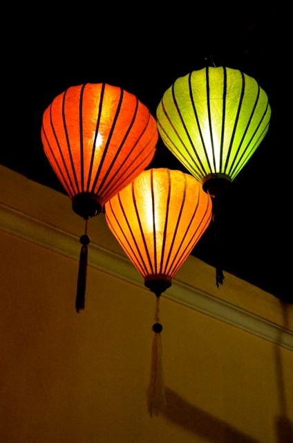 Vietnamese Lanterns at night in Hoi An