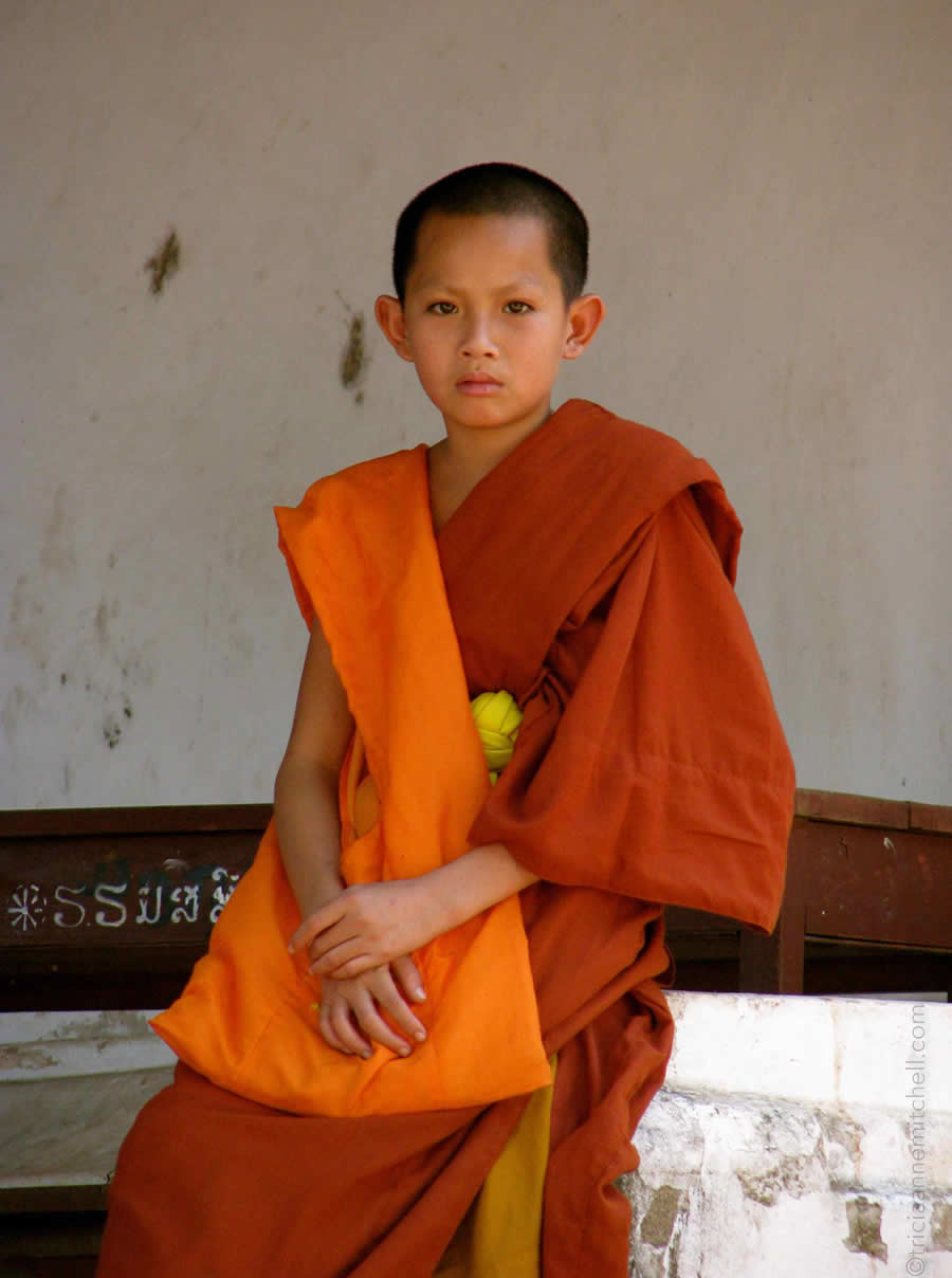 Novice Monk Luang Prabang Laos