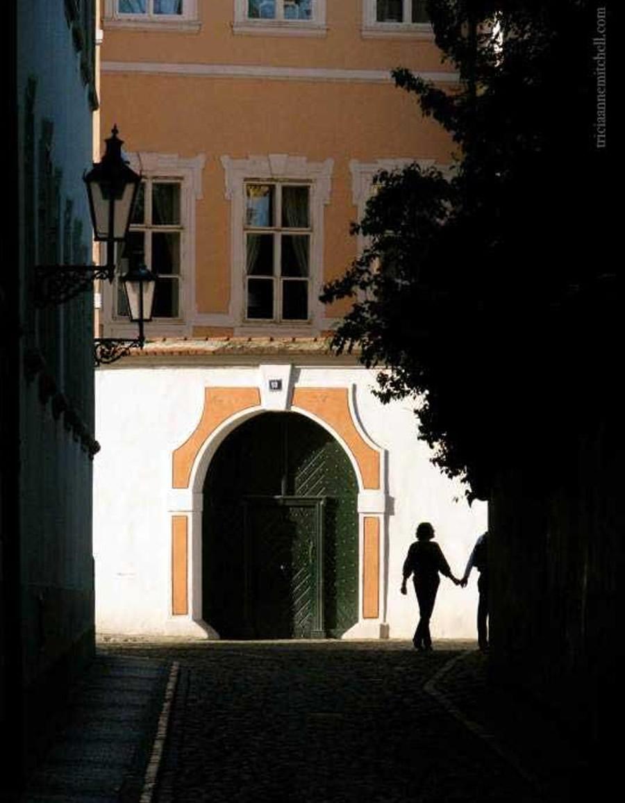 Prague Couple Strolling
