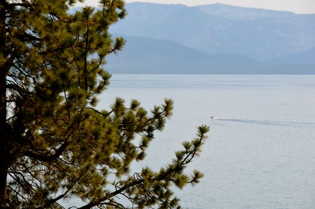 Boat on Lake Tahoe