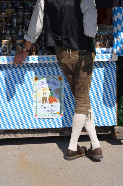 Man in Lederhosen at Oktoberfest