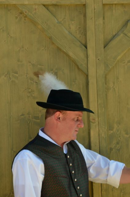 Man in Bavarian costume at Oktoberfest