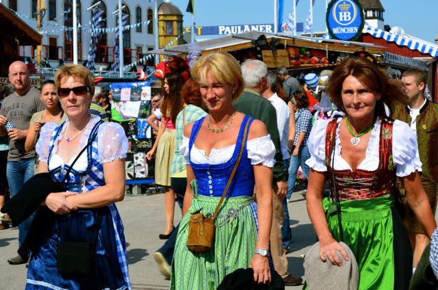 Women in Bavarian clothes Oktoberfest