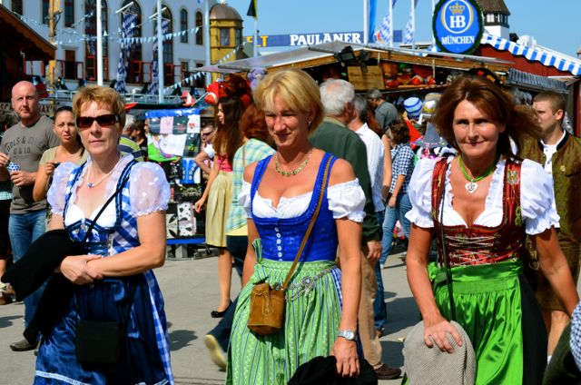Women in Bavarian clothes Oktoberfest