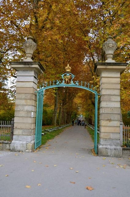 An ornate gate at the Ludwigsburg Palace during the annual Pumpkin Fest.