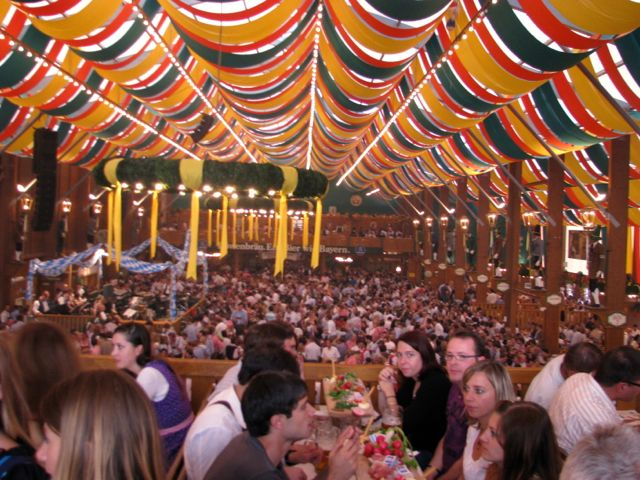 Oktoberfest fest tent