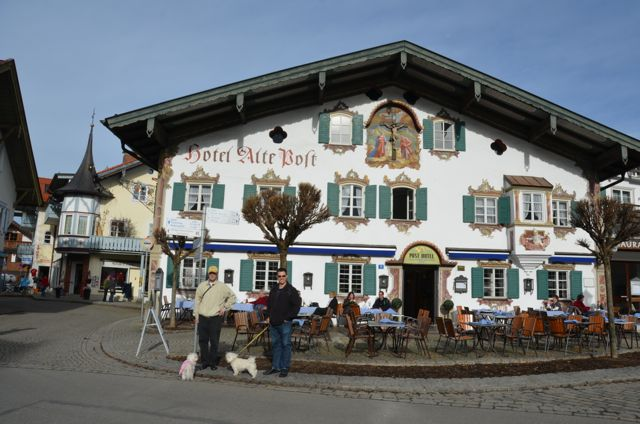 Oberammergau building with fresco Hotel Alte Post