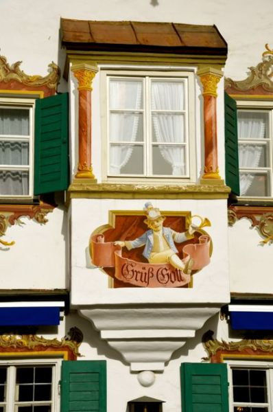 Oberammergau fresco - Gruess Gott