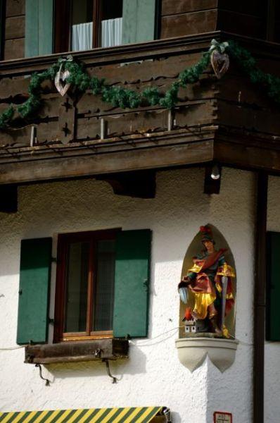 Oberammergau Religious Figure on Building