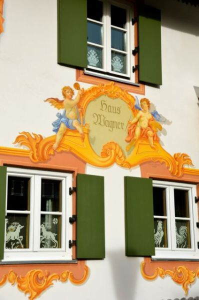 Oberammergau fresco - Germany