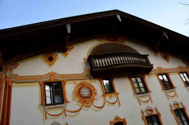Oberammergau building with fresco