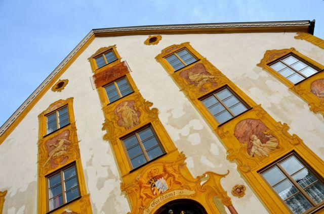 Oberammergau building with fresco