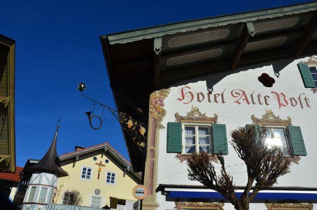 Oberammergau building with fresco Hotel Alte Post