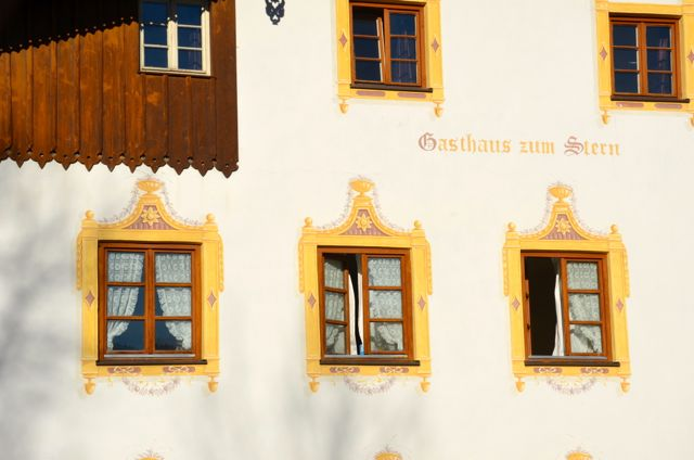 Oberammergau woodcarving and building with fresco