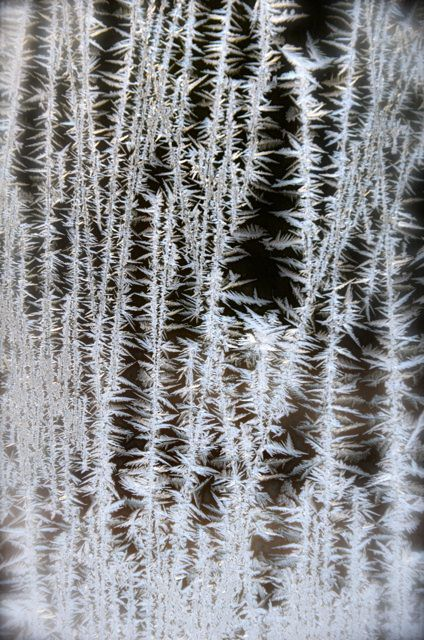 frost on german window