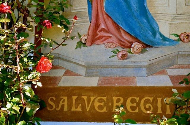 Oberammergau fresco and roses