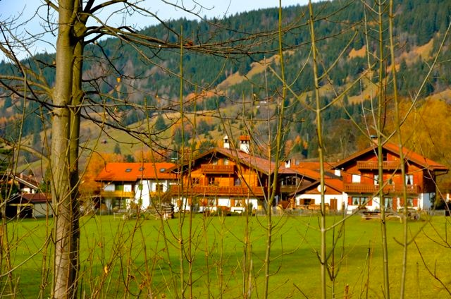 Oberammergau homes in meadow