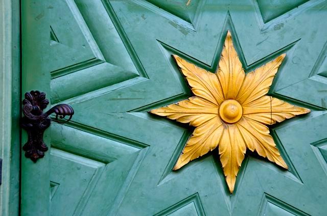 Oberammergau museum door detail