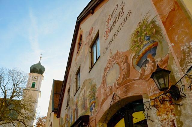 Oberammergau painted building