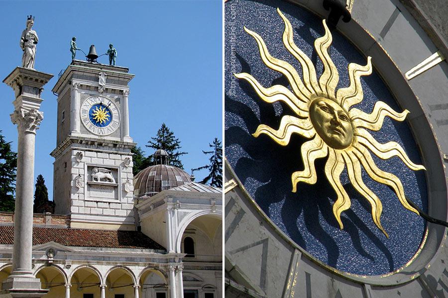 Loggia di San Giovanni Clock Sun Udine Italy