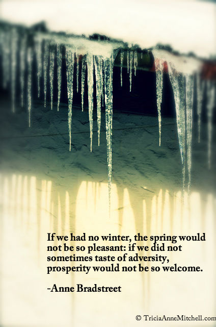 Oberammergau icicles and quote