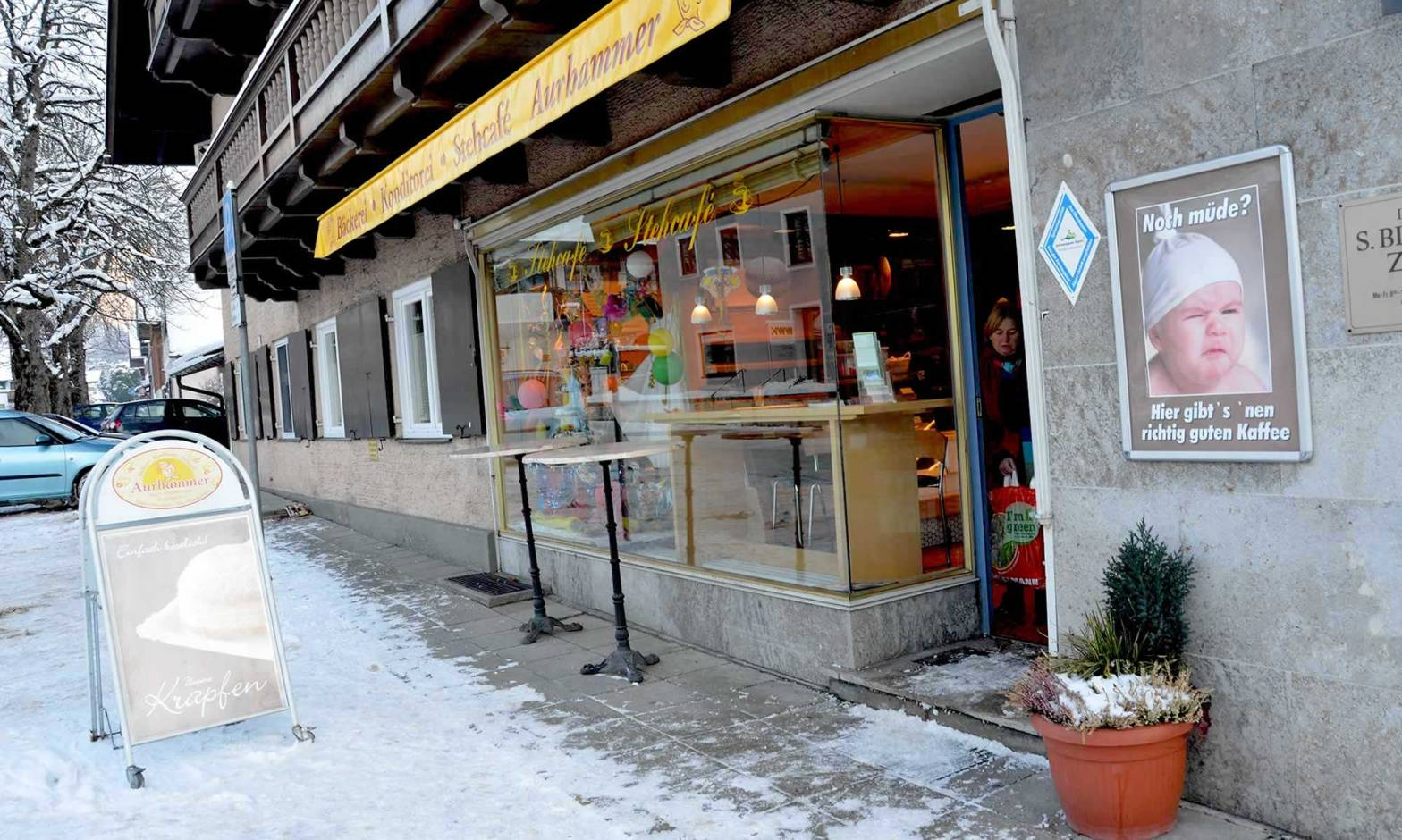 A bakery storefront in Oberammergau, Germany