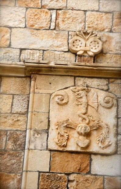Trogir architecture coat of arm