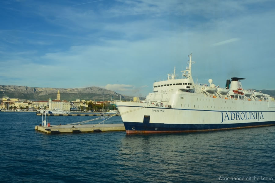taking the ferry in Croatia