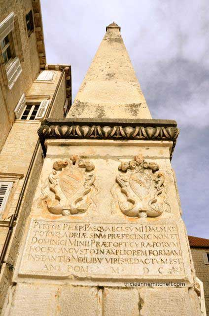 Architectural detail in Trogir, Croatia.