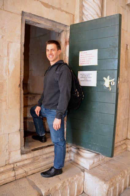 trogir bell tower entrance