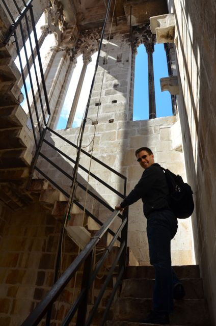 in stairwell of Trogir Bell Tower