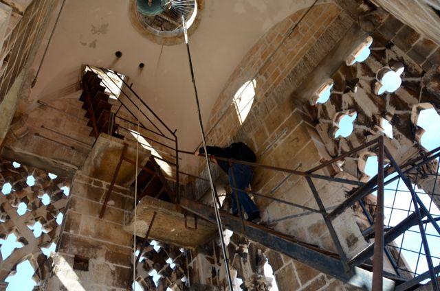 climbing trogir belltower