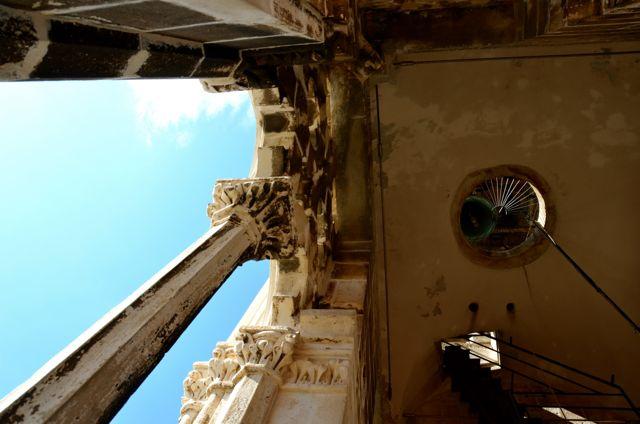 Trogir belltower open windows