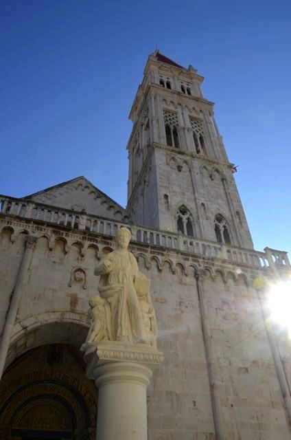 The exterior of The Cathedral of Saint Lawrence in Trogir, Croatia.