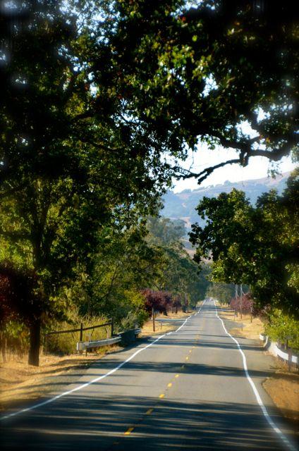 open road in California