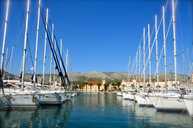 Trogir Marina of boats - Croatia