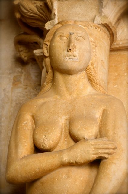 Eve statue at the St. Lawrence Cathedral in Trogir, Croatia, in a Portal designed by Radovan.