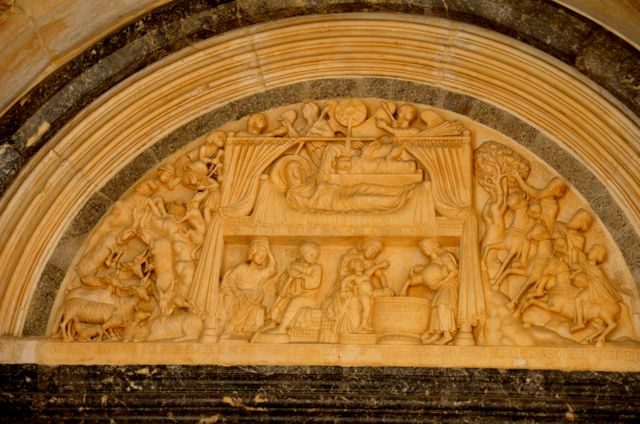 Intricate carvings on Radovan's portal - St. Lawrence Cathedral