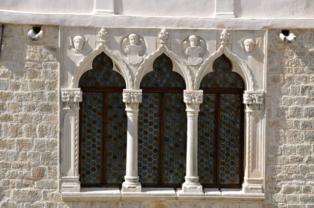 Cipiko Palace's decorative work over windows - Trogir