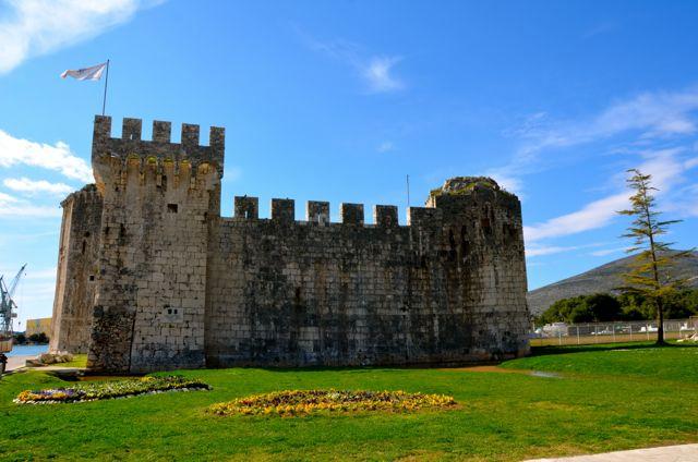 Kamerlengo Fortress and flowers - Trogir, Croatia