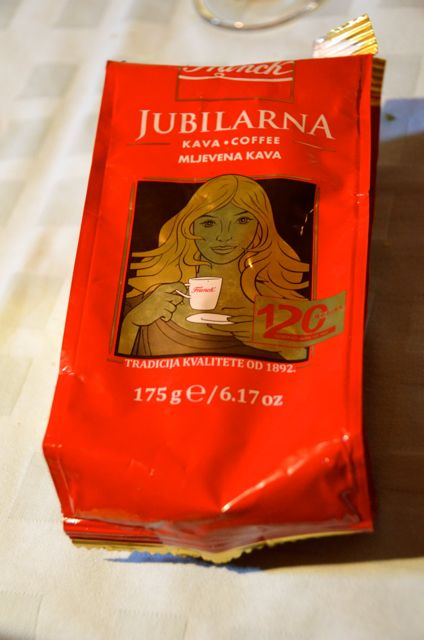 croatian coffee in red bag