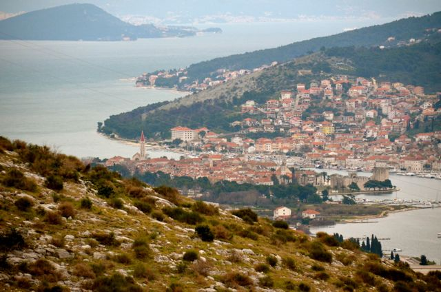 Trogir Croatia as seen from distance