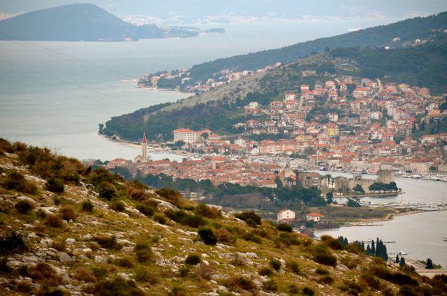 Trogir Croatia as seen from distance