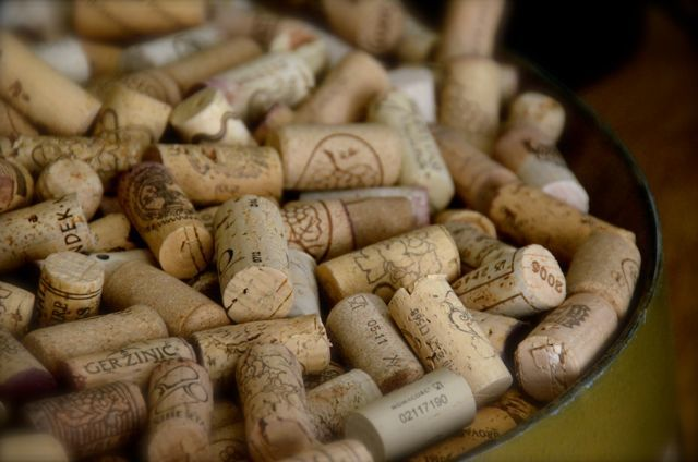 barrel of wine corks