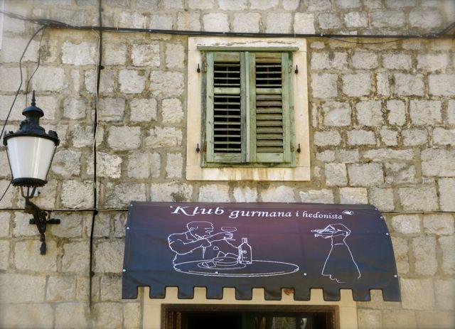 wine bar awning in Split Croatia
