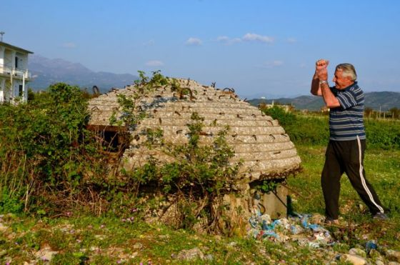 albanian bunker in shkoder countryside
