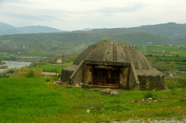 Just one of 700,000 + bunkers scattered across the Albanian landscape.