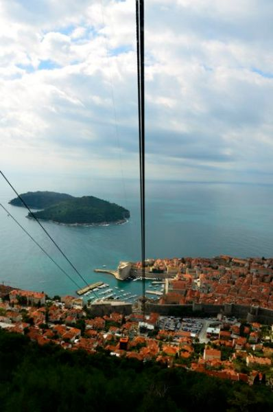 riding dubrovnik cable car down