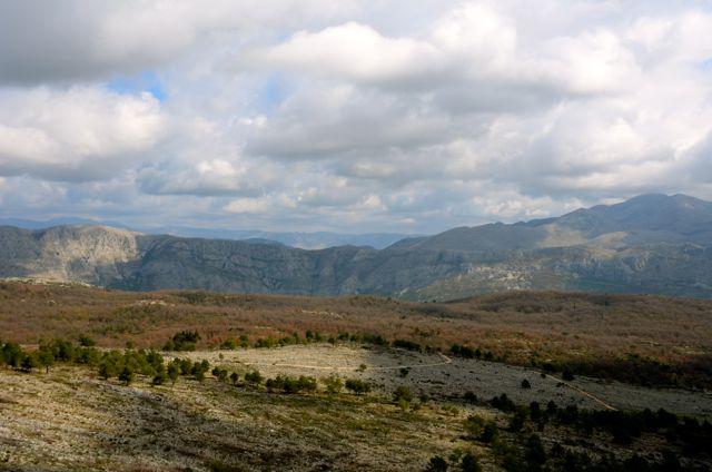croatian hilltop landscape - near dubrovnik